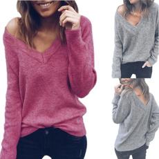 vnecktshirt, woolen, Fashion, long sleeved shirt