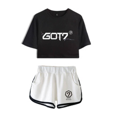 K-Pop, kpopexo, croptopandshortsset, Plus Size