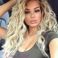 wig, brown, longblondecurlywig, Fiber