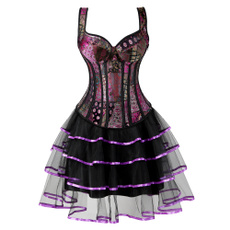 Mini, Goth, bustier dress, Lace