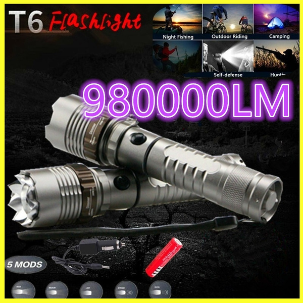 10W C8 T6 XML LED Flashlight Torch L000lm Waterproof IP67