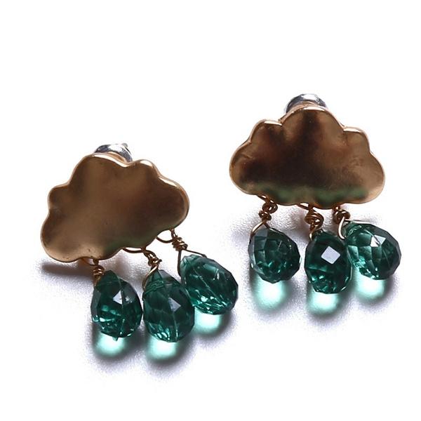 earrings jewelry, Fashion, Crystal, Stud Earring