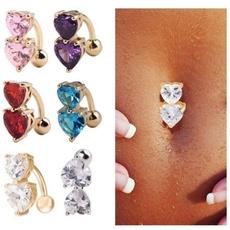 Heart, DIAMOND, Jewelry, womensbellyring
