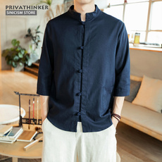 Traditional, contracted, Cotton, Shirt
