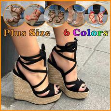 beach shoes, Plus Size, Platform Shoes, wedge