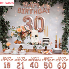 birthdaybanner, Rose, gold, birthdaypartysupplie