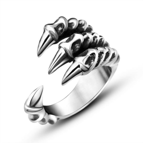 Fashion, dragonring, Silver Ring, Stainless steel ring