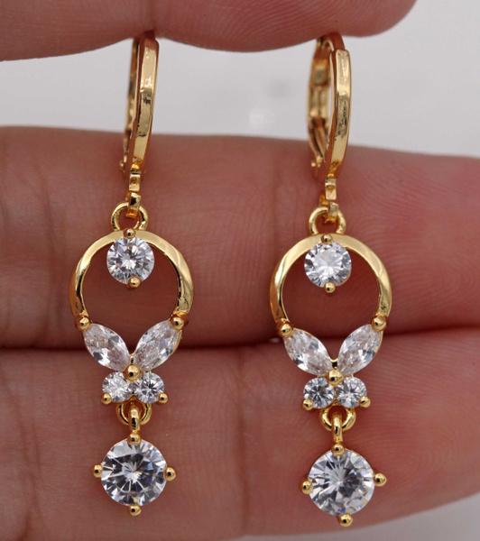 yellow gold, Dangle Earring, Jewelry, topazearring