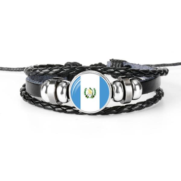 flagbracelet, flagjewelry, guatemalaflag, Jewelry