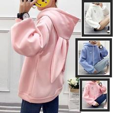 Kawaii, cute, hooded, pink