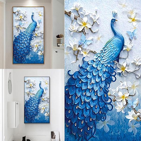 peacock, DIAMOND, Wall Art, Home Decor
