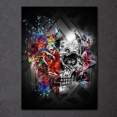 crossstitch, DIAMOND, art, Skeleton