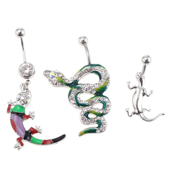 danglenavelring, piercingjewelry, snake, Belly