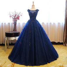 Blues, gowns, Flowers, Princess