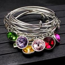 Charm Bracelet, Crystal Bracelet, Jewelry, Gifts