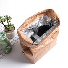 brown, coolerbag, paperbag, thermalbag