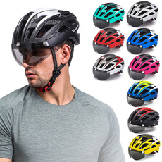 Helmet, Bicycle, Goggles, Cycling