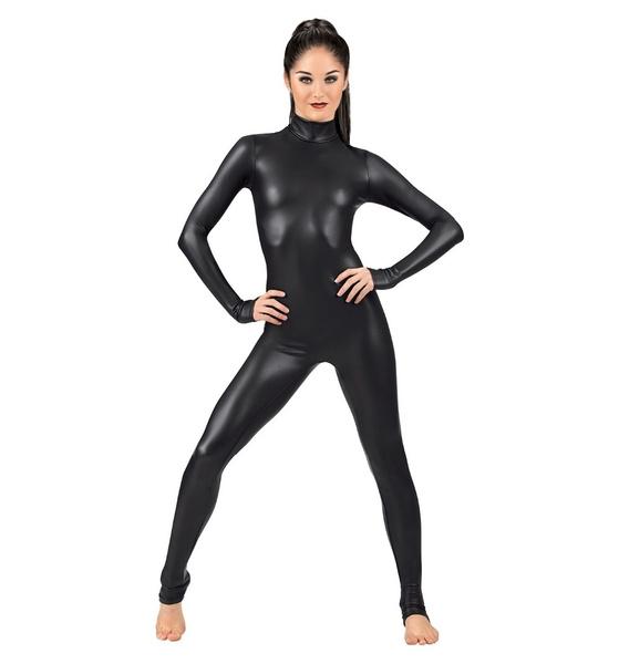 Spandex Lycra Polyamid Damen Glanz Gymnastikanzug Bodysuit Body XL  pink