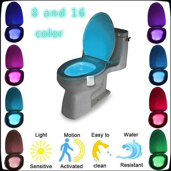 toilet, Bathroom, Sensors, led