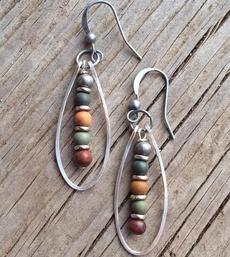 Hoop Earring, Jewelry, longdangleearring, copperearring