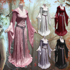 gowns, GOTHIC DRESS, faedre, Long Sleeve