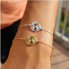 Map, woman fashion, lover gifts, Chain