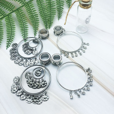 gaugeearring, Tassels, Dangle Earring, Jewelry