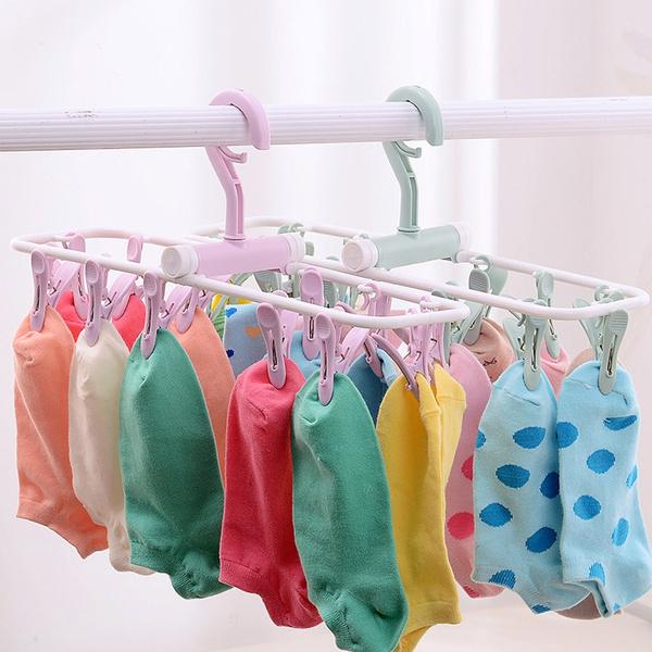 Underwear, Hangers, folding, clothespin