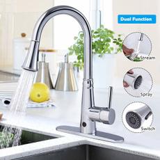 Faucets, chrome, touchlesskitchenfaucet, touchlessfaucet