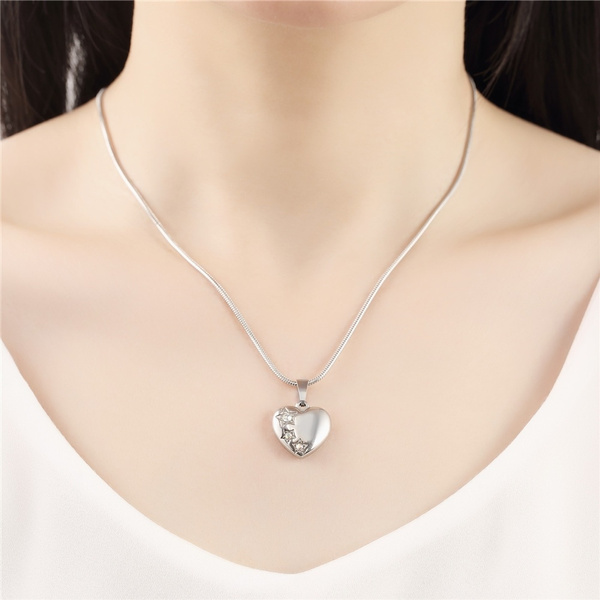 Necklace, Heart, crystal pendant, goldpendant