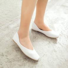 pink, Flats, flat shoe, brown