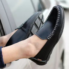 Flats, Men, Driving, leather