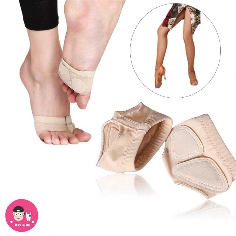 S Foot Thong Para Ballet Dance Toe Undies Calcetines para el vientre Patas de baile Medias zapatillas Ballet Belly Foot Tangas Dance Paw Pad Shoes
