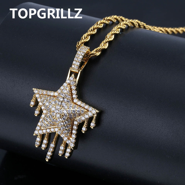 hip hop jewelry, Star, Jewelry, gold
