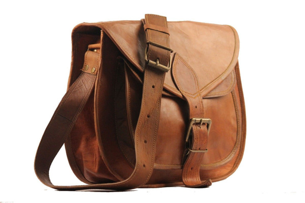 Vintage, genuine leather bag., laptopbattery, Bags