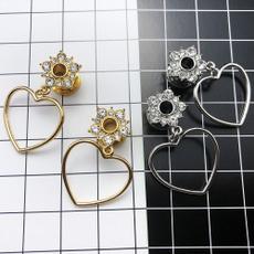 gaugeearring, Flowers, Dangle Earring, spiral