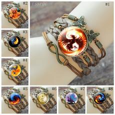 bronzebracelet, firephoenix, taichi, brownleather