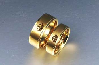 Couple Rings, Steel, Queen, Gifts