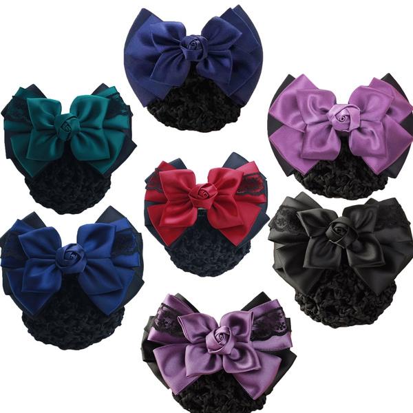 bowknot, Rose, hairnet, Cover