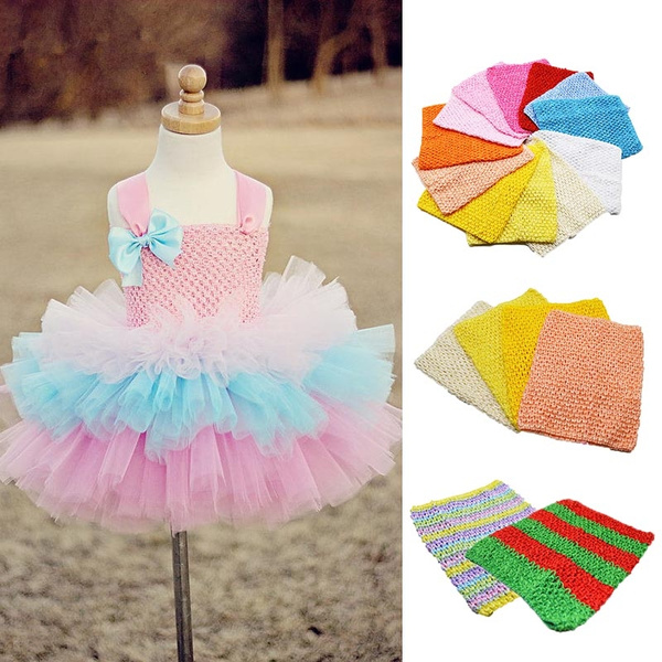 Spool Apparel Supplies Tutu Baby Girl Skirt Tube Fabric  Crochet Chest Wrap