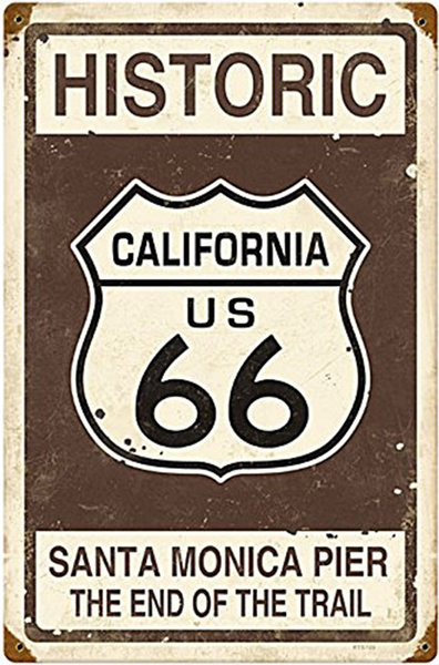 route66, Vintage, Metal, metaltinsign