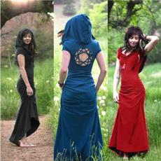 slim dress, Fashion, Hollow-out, long dress
