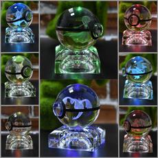 Night Light, 3dledlamp, Handmade, crystalball