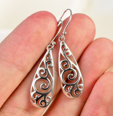 Sterling, Hoop Earring, Jewelry, fashionearringg