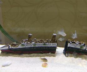 Tank, titanicwreckage, fish, Ornament