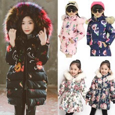 girlswintercoat, girlscoat, Fashion, floraljacket