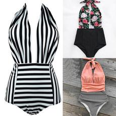 Deep V-Neck, bikini set, Beach, onepiece