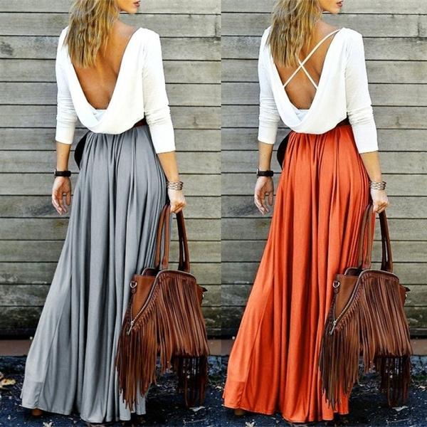 Pastels, long skirt, Fashion, high waist