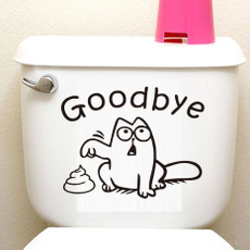 Funny, Bathroom, Wall Art, tolietsticker