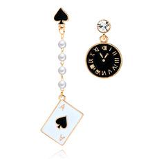 Black Earrings, Poker, Fashion, Dangle Earring